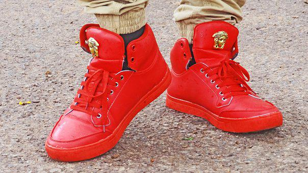 Shoes, Footwear, Sneakers, Red, Foot, Style, Sport