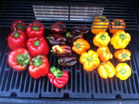 Bell Peppers, Grill, Grilled, Food, Roasted Pepper