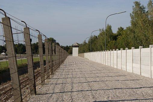 Dachau Concentration Camp, Walls, Fence, Justice