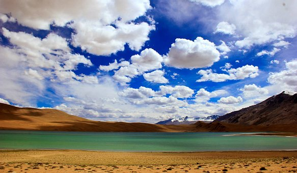Tso, Chu, Lake, Leh, Ladhak, Blue, Green, Water