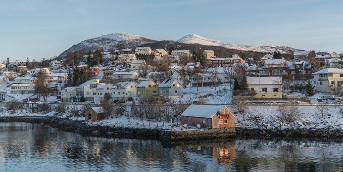 Norway, Tromso, Coast, Scandinavia, Landscape