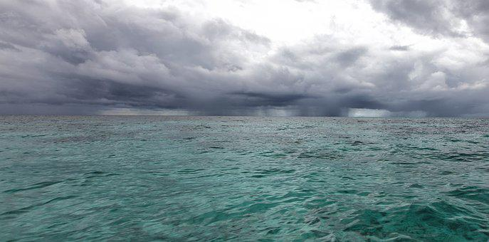 It Was Cloudy, Landscape, Sea, Southern Countries