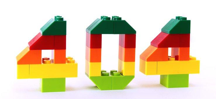 Error, Not Found, 404, Lego, Mistake, 4, 0, Number