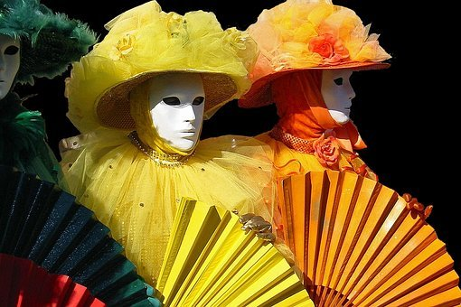 Carnival, Masks, Panel, Venice, Colorful, Alive