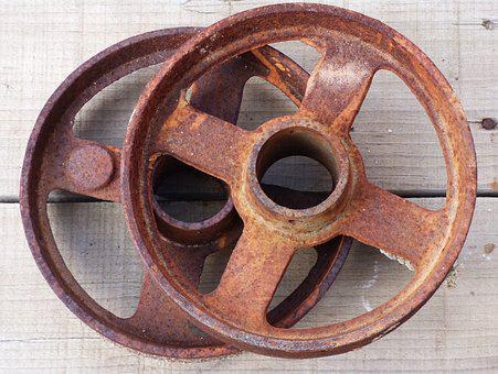 Pulley, Mechanism, Vintage, Iron, Rusty, Wheel