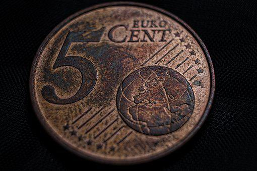 Euro, Cent, Money, Coins, Save, Specie, Currency, Metal