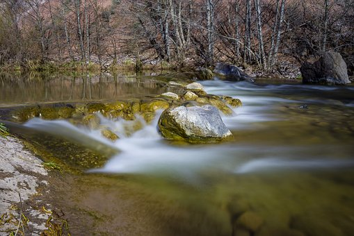 Fossil Creek, River, Park, Arizona, Rock, Water, Nature