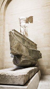 Louvre, Museum, P, Old, France, Paris, Architecture