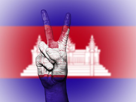 Cambodia, Cambodian, Flag, Peace, Background, Banner