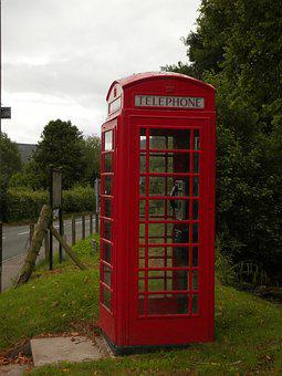 Phone Booth, England, Red Telephone Box, Public