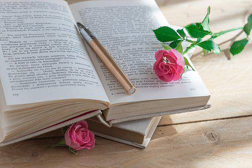 Book, Pen, Rose, Old Book, Romantic, Ring, Love Story