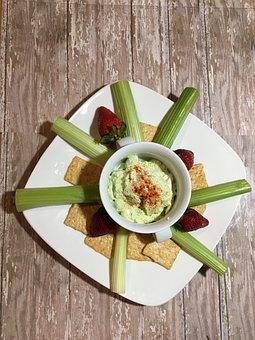 Snack, Celery, Hummus, Foodie, Crackers, Food