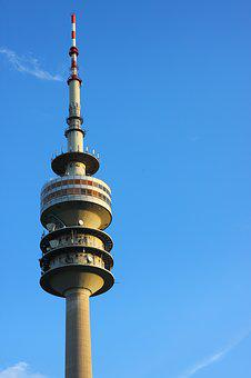Munich, Tv Tower, Architecture, Olympic Park