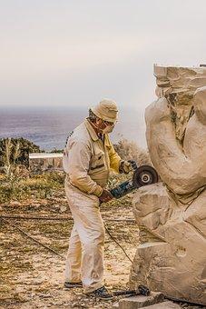 Artist, Man, Sculptor, Working, Sculpture, Art, Work