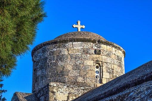 Church, Dome, Orthodox, Cyprus, Paralimni, Ayia Anna