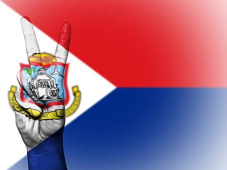 Sint Maarten, Peace, Hand, Nation, Background, Banner