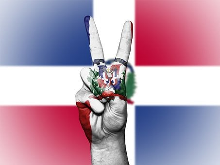 Dominican Republic, Peace, Hand, Nation, Background