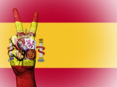Spain, Peace, Hand, Nation, Background, Banner, Colors