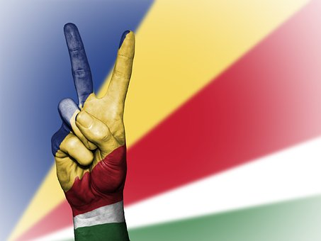 Seychelles, Peace, Hand, Nation, Background, Banner