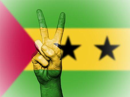Sao Tome And Principe, Peace, Hand, Nation, Background