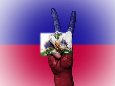 Haiti, Peace, Hand, Nation, Background, Banner, Colors