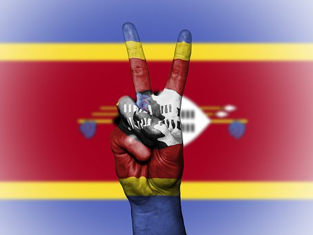 Swaziland, Peace, Hand, Nation, Background, Banner