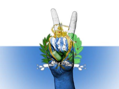 San Marino, Peace, Hand, Nation, Background, Banner
