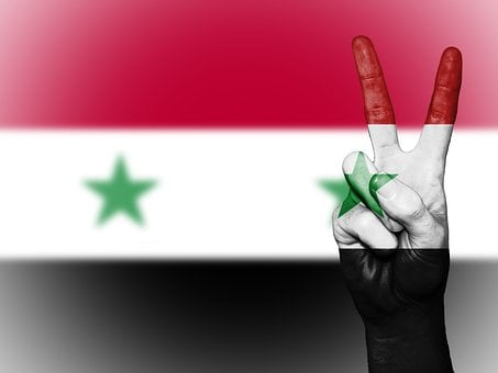 Syria, Peace, Hand, Nation, Background, Banner, Colors