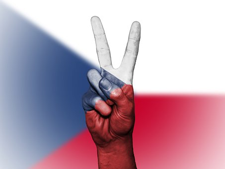 Czechia, Peace, Hand, Nation, Background, Banner