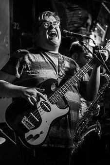 Musician, Bass, Music, Black And White, Scream