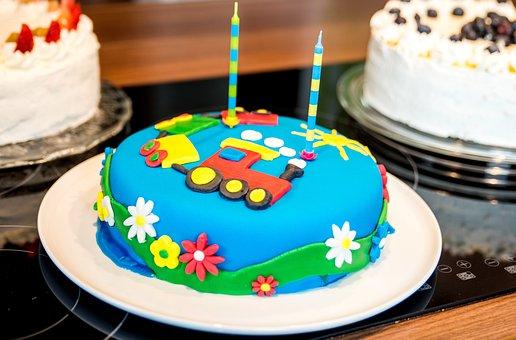 Birthday Cake, Cake, Children's Birthday, Sweet Dish