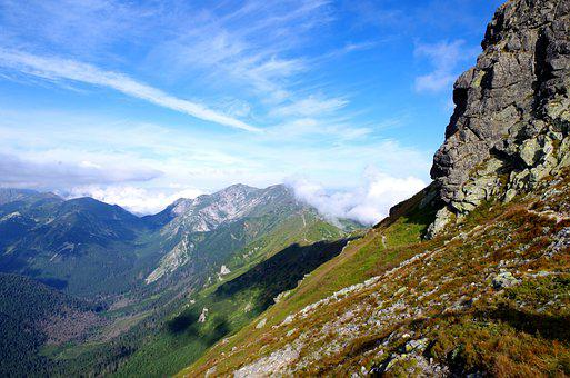 Tatra, Mountain, Cliff, Scape, Cloud, Travel, Blue, Sky