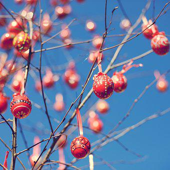 Easter, Egg, Red, Easter Egg, Colorful, Decoration
