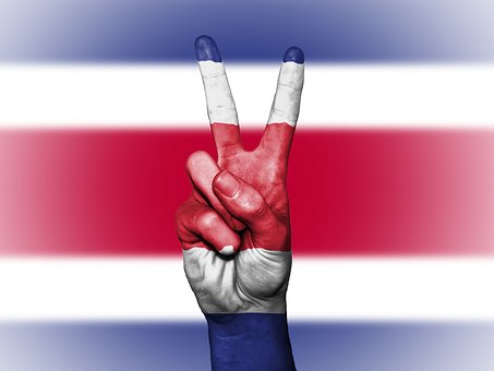 Costa Rica, Peace, Hand, Nation, Background, Banner