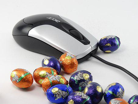 Easter Egg, Easter Eggs, Mouse, Chocolate, Color