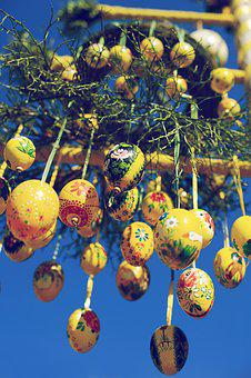 Easter, Egg, Easter Egg, Tree, Spring, Depend, Yellow