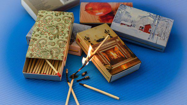 Matches, Flame, Sticks, Fire, Burn, Burning Down, Heiss