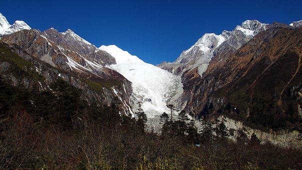Hailuogou, Ice Falls, Glacier, Gongga Mountain, Sichuan