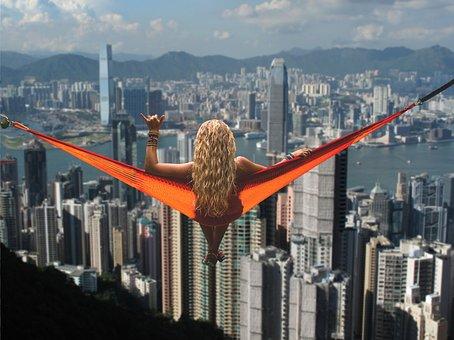 Hammock, Girl, Hong Kong, Relaxation