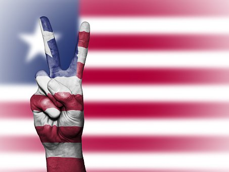Liberia, Peace, Hand, Nation, Background, Banner
