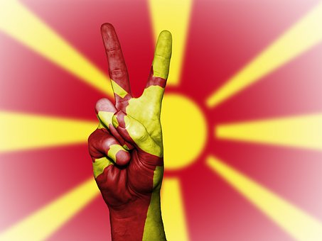 Macedonia, Peace, Hand, Nation, Background, Banner