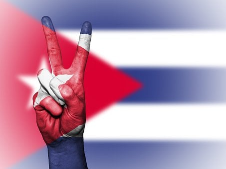 Cuba, Peace, Hand, Nation, Background, Banner, Colors
