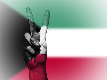 Kuwait, Peace, Hand, Nation, Background, Banner, Colors