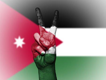 Jordan, Peace, Hand, Nation, Background, Banner, Colors