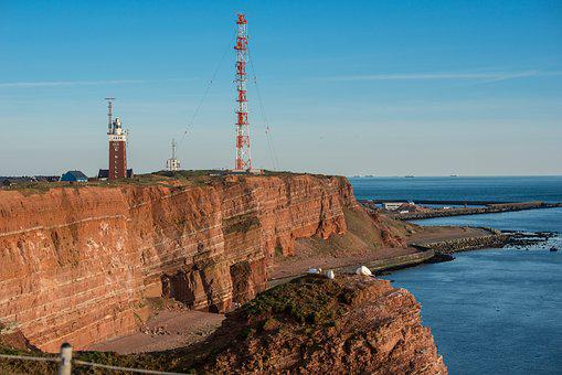 Helgoland, Island, Sea Island, Cliffs, Lighthouse