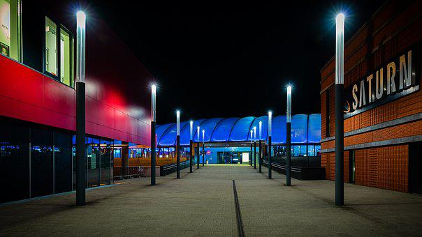 Luxembourg, Railway Station, Night Photograph