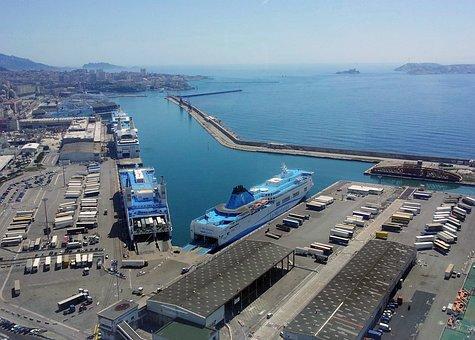 Marseille, Port, Méditérannée, Paca, Boat, Cargo
