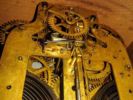 Clock, Steampunk, Mechanism, Mechanical, Vintage, Old