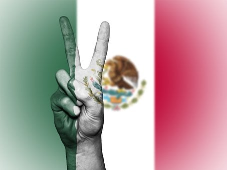 Mexico, Peace, Hand, Nation, Background, Banner, Colors