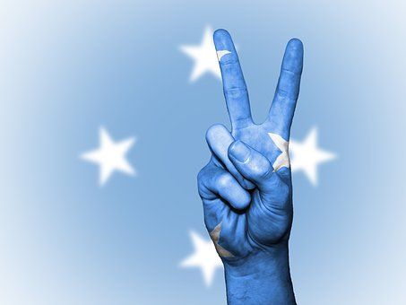 Micronesia, Peace, Hand, Nation, Background, Banner
